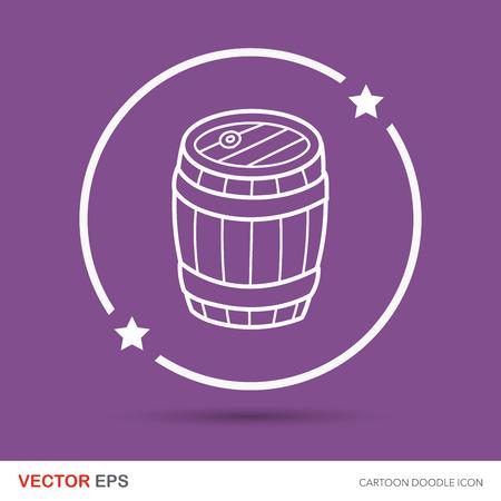 wine barrel: wine barrel doodle