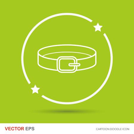 collar: Pet collar doodle Illustration