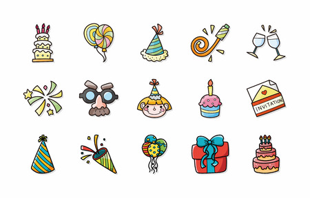 clink: Birthday and celebrate icons set