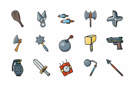 weapons: Weapons icons set,eps10 Illustration