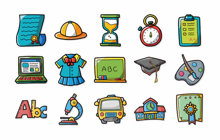 School and Education icons set,eps10