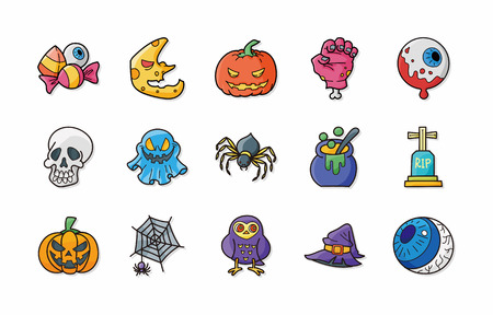 halloween party: Halloween party icons set Illustration