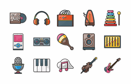 castanets: Music icons set