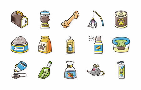turtles love: Pets icons set