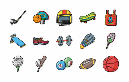 Hurl: Sport and fitness icons set Illustration