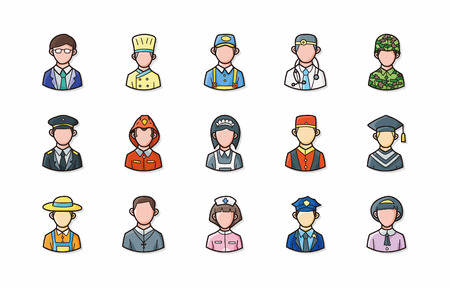 occupations: People occupations icons set,eps10 Illustration