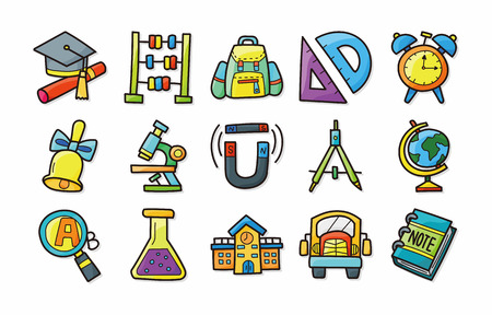School and Education icons set Ilustracja