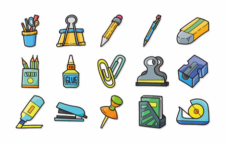 scotch: Stationery and drawing icons set