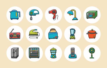 Electrodomésticos iconos conjunto