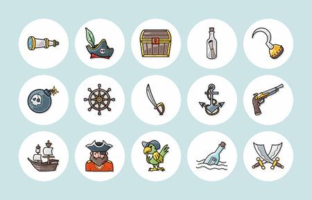 tun: Pirate icons set