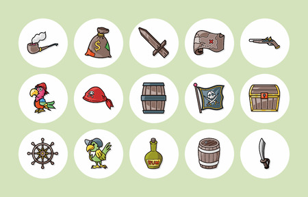 Pirate Icons set  Vektorgrafik