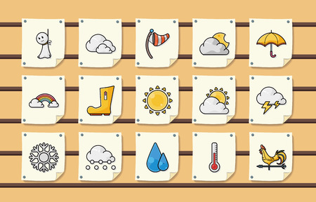 windstorm: Weather icons set Illustration