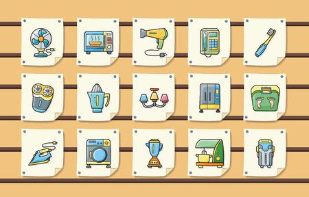 Electrodomésticos iconos conjunto Ilustración de vector