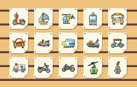monorail: Transportation icons set