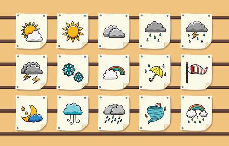 weather icons: Weather icons set Illustration