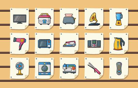 appliances: Home appliances icons set