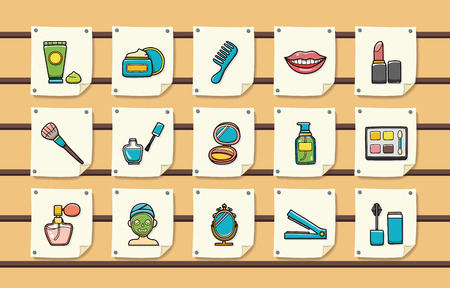 preening: Beauty and make up icons set