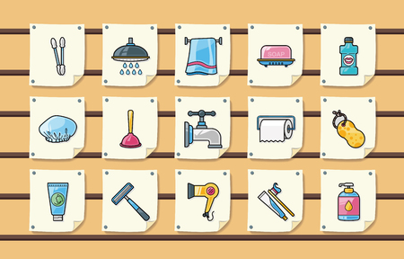 bidet: Sanitary and bathroom icons set