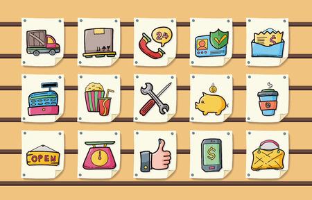 shopping icons: Shopping icons set Illustration