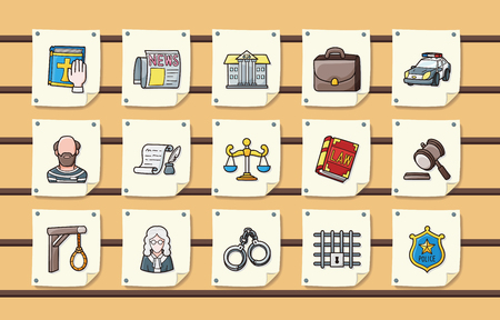 tax attorney: Law and justice icons set