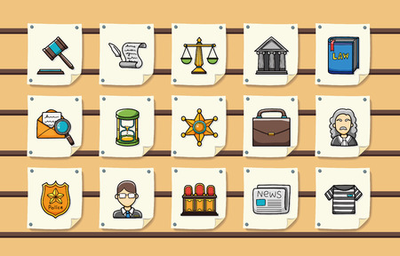 constitutional: Law and justice icons set