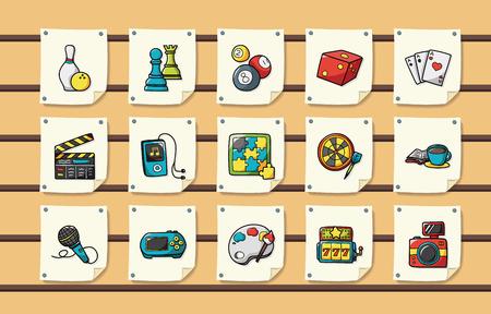 Per il tempo libero e hobby icone set Vettoriali