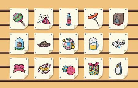 celebration party: Party and Celebration icons set,eps10