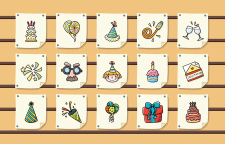 clink: Birthday and celebrate icons set,eps10