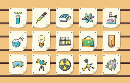 physical exam: Chemistry and science icons set