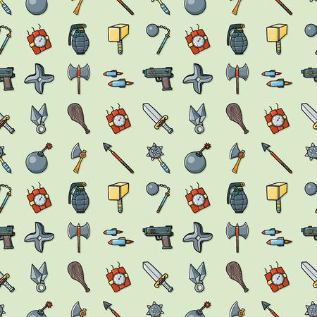 Weapons icons set,eps10 Stock Illustratie