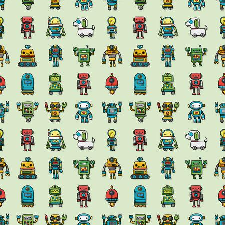 Manufacture robot icons set,eps10