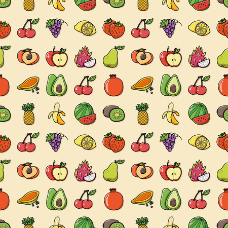Fruits and vegetables icons set Stock Illustratie