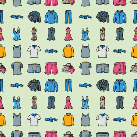 Wearing and clothes icons set Stock Illustratie