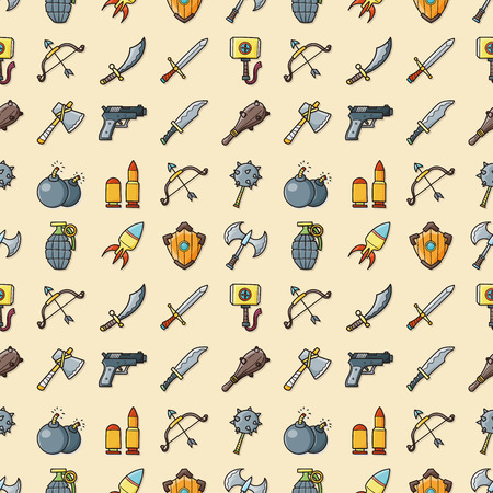 weapons: Weapons icons set