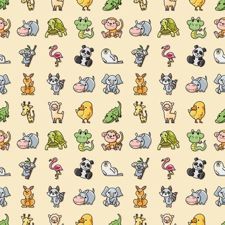Funny animals icons set,eps10