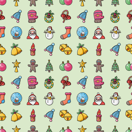 Christmas and winter icons set,eps10 Stock Illustratie