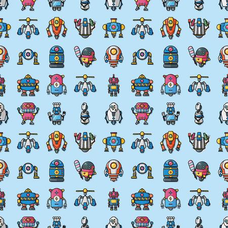 Manufacture robot icons set Stock Illustratie