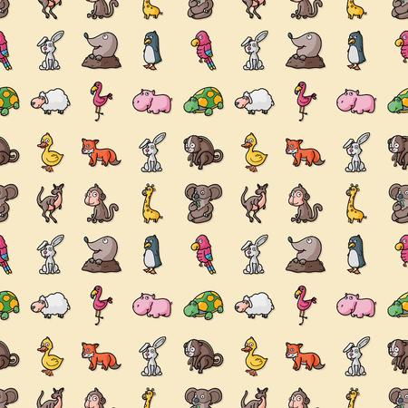 Funny animals icons set