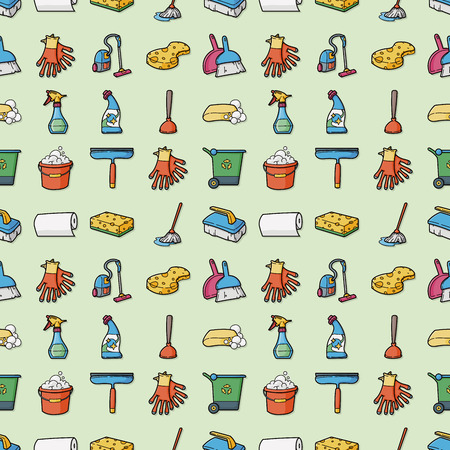 Cleaning and sewing icons set,eps10