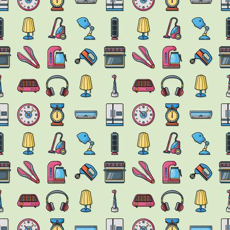 iron fan: Home appliances icons set,eps10