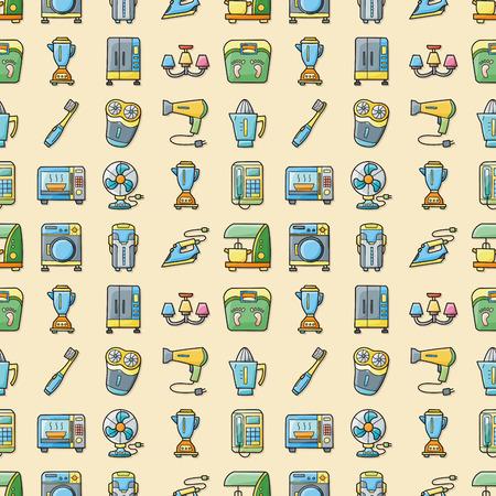 Home appliances icons set,eps10