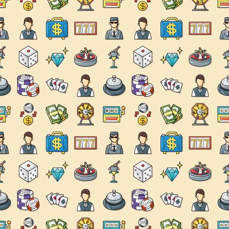 gambling counter: Casino and gambling icons set,eps10