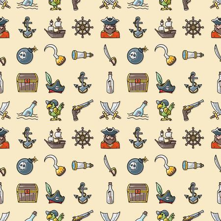 tun: Pirate icons set,eps10