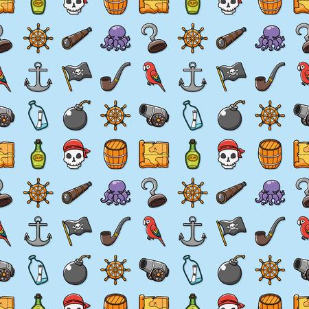 ahoy: Pirate icons set,eps10