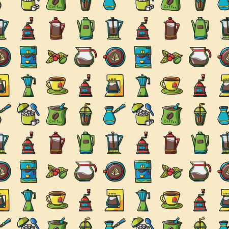 side menu: Coffee and tea icons set,eps10