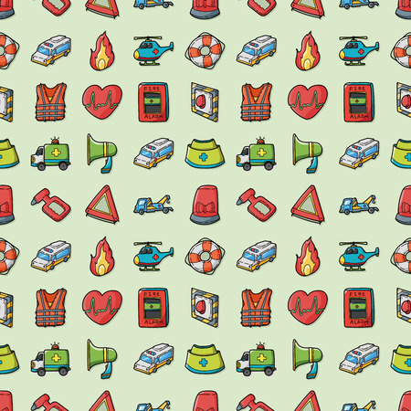 escaping: Emergency and fire icons set,eps10 Illustration