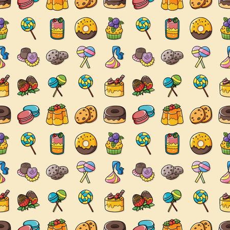 foodstuffs: Dessert and sweets icons set,eps10 Illustration