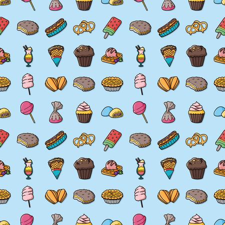 water s: Dessert and sweets icons set,eps10 Illustration