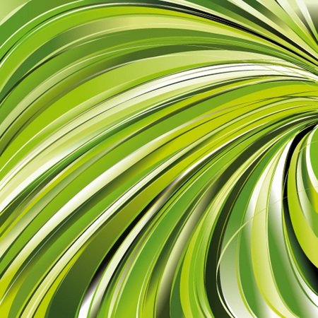 Green waved background Vector