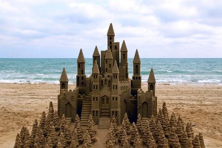 Sandcastle Stockfoto